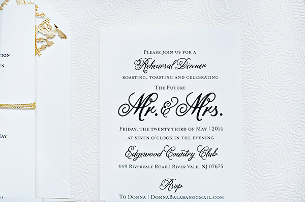 Classic Black White Wedding Invitations Suite Paperie OSBP5 Ashley + Erics Classic Black and White Wedding Invitations