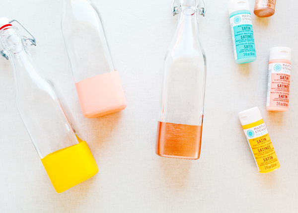 DIY Color Dipped Bottles OSBP 41 DIY Tutorial: Color Dipped Picnic Bottles