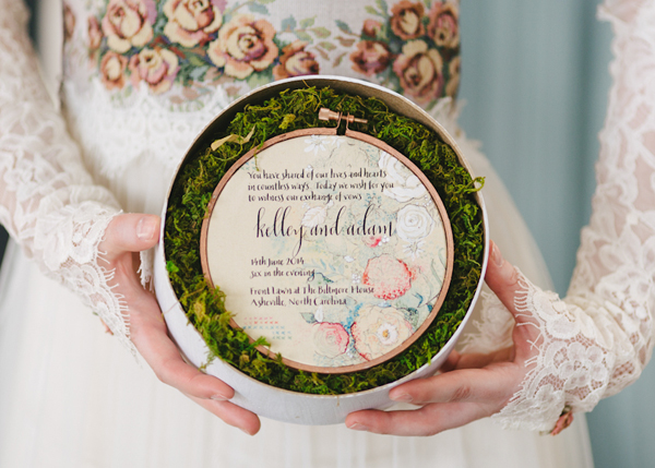 Embroidery Inspired Wedding Invitations Momental Designs OSBP 14 Embroidery and Millinery Wedding Invitation Inspiration