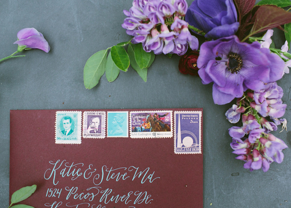 Envelope Inspiration Calligraphy Vintage Stamps OSBP 34 Envelope Inspiration: Calligraphy and Vintage Stamps