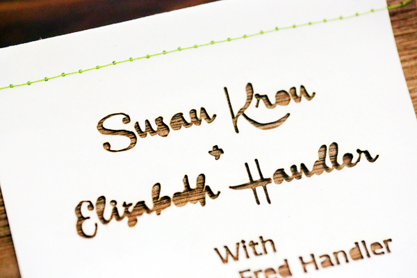 Laser Cut Wood Wedding Invitations Fourth Year Studio4 Susan + Beths Laser Cut Wood Veneer Wedding Invitations
