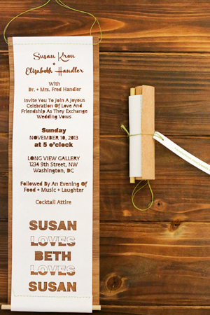 Laser Cut Wood Wedding Invitations Fourth Year Studio5 Susan + Beths Laser Cut Wood Veneer Wedding Invitations