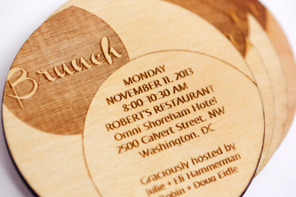 Laser Cut Wood Wedding Invitations Fourth Year Studio8 Susan + Beths Laser Cut Wood Veneer Wedding Invitations