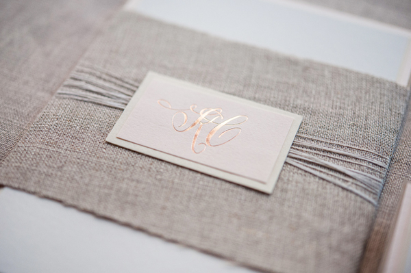 Romantic Rose Gold Wedding Invitations Gus and Ruby Letterpress8 Kate + Cleons Romantic Rose Gold Foil Wedding Invitations