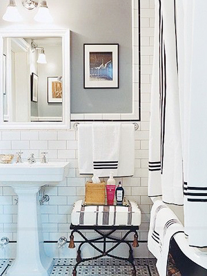 Subway Tile Bathroom OSBP at Home: Small Bathroom Renovation Inspiration