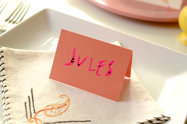 TableNumberDIY Geo Placecard DIY Tutorial: Wedding Reception Table Numbers