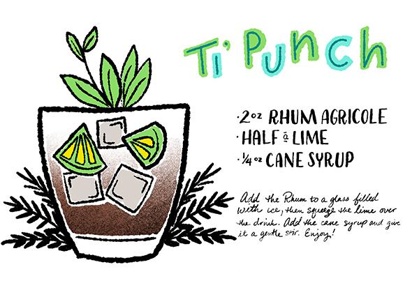 Ti Punch Cocktail Recipe Card Shauna Lynn Illustration OSBP Friday Happy Hour: Ti Punch