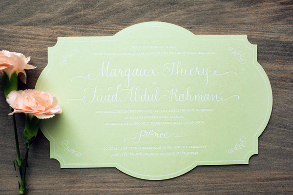Bilingual English French Wedding Invitations Atheneum Creative OSBP6 Margaux + Fuads Rustic French Wedding Invitations
