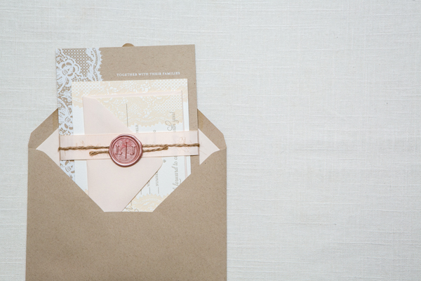 giada davides kraft paper lace wedding invitations