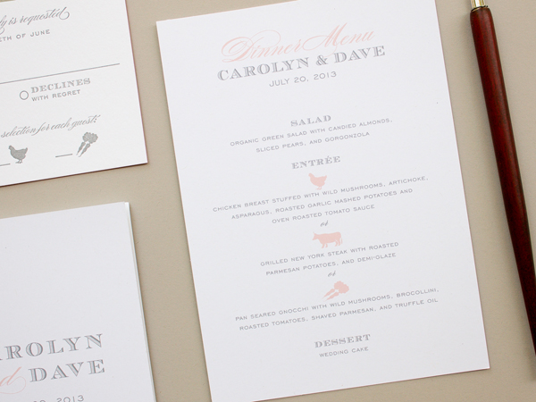 Traditional Romantic Wedding Invitations Banter and Charm OSBP5 Carolyn + Daves Traditional Romantic Wedding Invitations