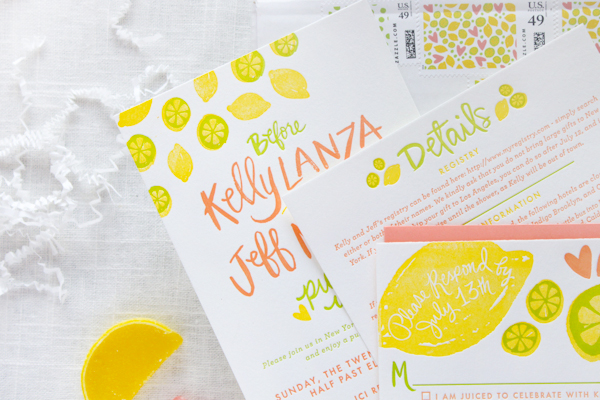 Citrus Bridal Shower Invitations StudioDIY 9thLetterPress OSBP7 Kellys Citrus Inspired Bridal Shower Invitations