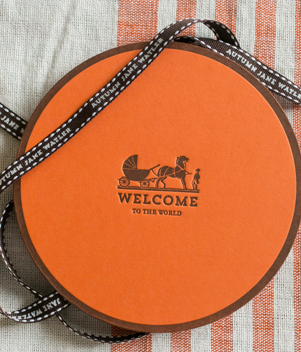 Hermes Inspired Baby Announcement Atheneum Creative7 Autumns Hermès Inspired Baby Announcements