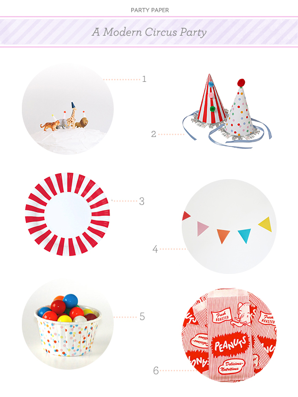 Modern Circus Party Paper Party Paper: A Modern Circus Party