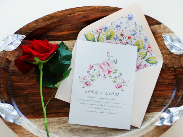 Soft Floral Wedding Invitations Umama OSBP Ana + Liams Soft Floral Wedding Invitations