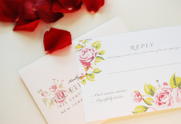 Soft Floral Wedding Invitations Umama OSBP3 Ana + Liams Soft Floral Wedding Invitations