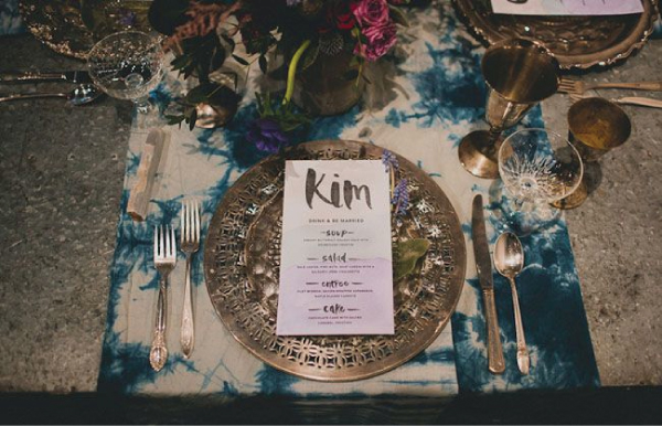 dark botanical wedding inspration 6 Wedding Stationery Inspiration: Dark Botanicals