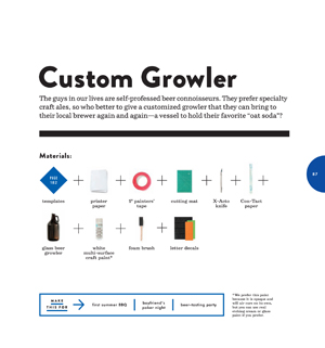 Make and Give Custom Growler3 Book Preview: Make & Give