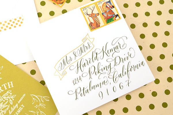 PeaceCard Final 3 DIY Tutorial: Vine and Berries Holiday Card