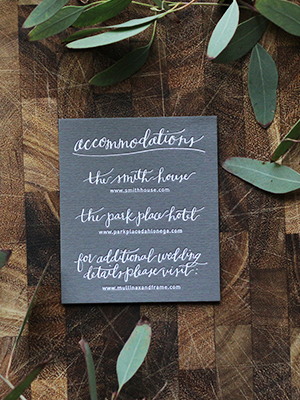 Rustic Calligraphy Wedding Invitation Goodheart Design OSBP13 Lauren + Bradleys Rustic Calligraphy Wedding Invitations