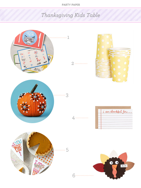 Party Paper Kids Thanksgiving Table OSBP Party Paper: The Thanksgiving Kids Table