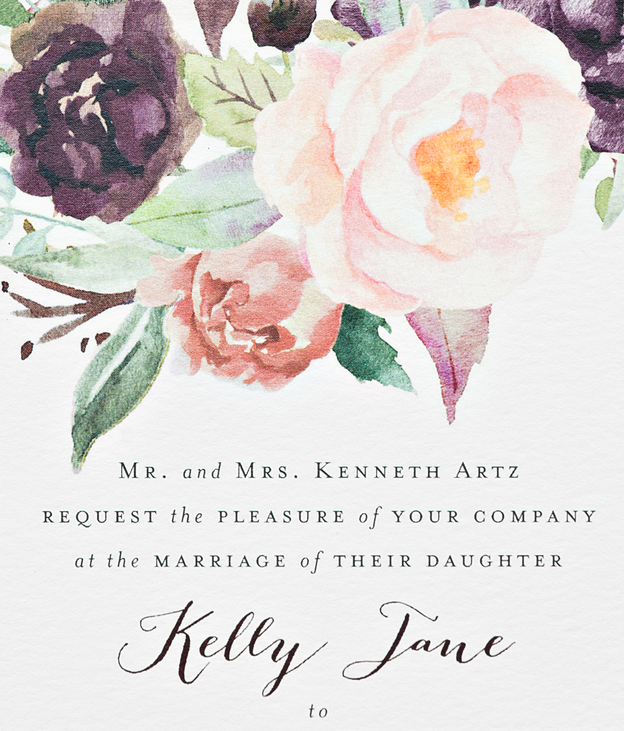Cool New York City Inspired Floral Watercolor Wedding Invitations Suite Paperie Osbp 4 Watercolor Wedding Invitation Suite Watercolor Wedding Invitations Photoshop wedding Watercolor Wedding Invitations