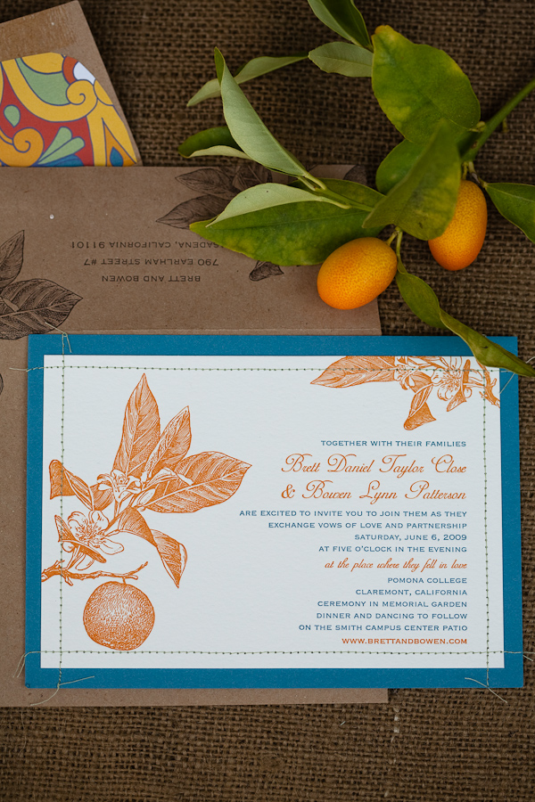 6a00e554ee8a2288330115722da192970b pi Citrus + Stitched Wedding Invitations