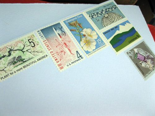 6a00e554ee8a2288330120a4e64bf4970b 500wi Bird and Banner + Vintage Stamps