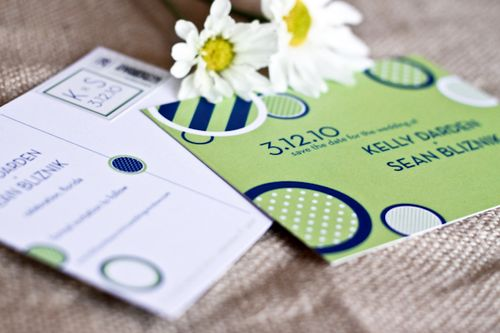 6a00e554ee8a2288330120a555f158970b 500wi Kelly + Seans Preppy Blue and Green Wedding Invitations