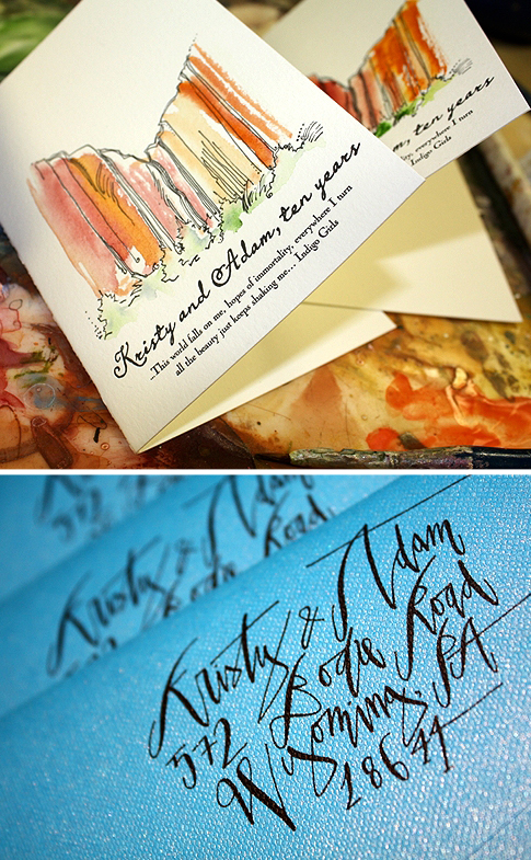 6a00e554ee8a228833012876373af9970c 500wi Kristy + Adams Hand Painted Letterpress Save the Dates