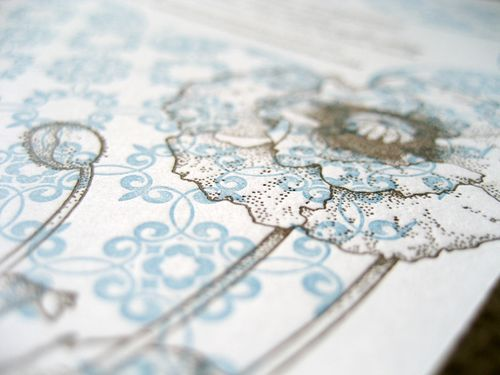 6a00e554ee8a2288330128768ae6e0970c 500wi Blue + Brown Floral Letterpress Invitations