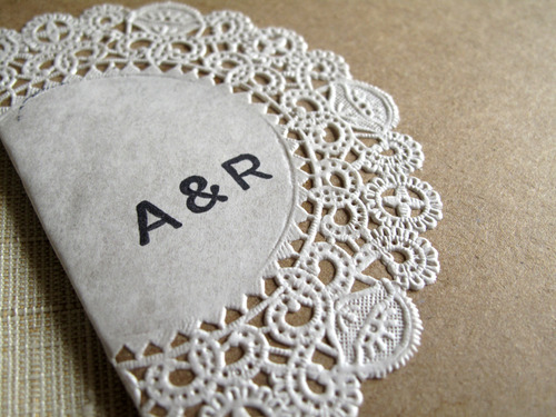6a00e554ee8a2288330131100273ca970c 500wi Raechel + Alexs Crafty Doily and Kraft Paper Wedding Invitations