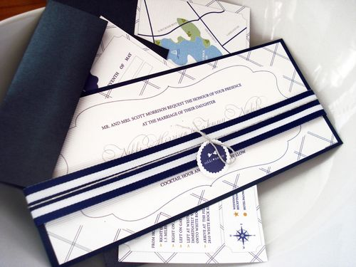 6a00e554ee8a2288330133ec76c42d970b 500wi Nikki + Tommys Nautical Blue and White Wedding Invitations