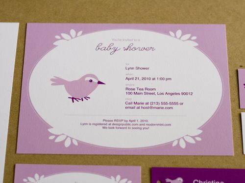 6a00e554ee8a2288330133eccea05e970b 500wi Pink + Purple Baby Shower Invitations