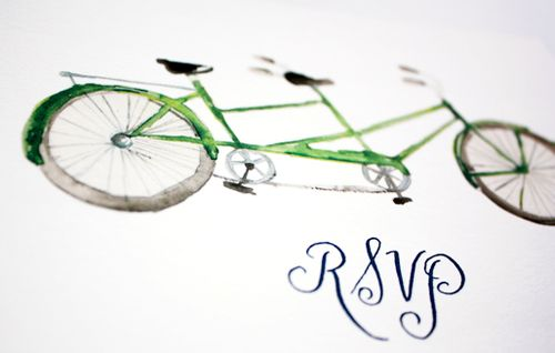 6a00e554ee8a2288330133ecdbe226970b 500wi Watercolor Bicycle Wedding Invitations