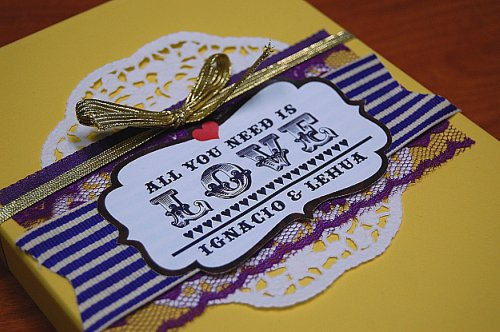6a00e554ee8a2288330134803f24de970c 500wi Lehua + Ignacios Beatles Inspired All You Need is Love Wedding Invitations