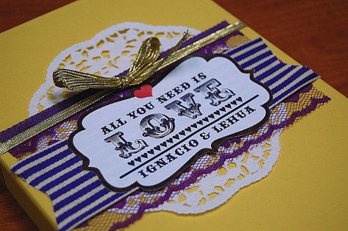 6a00e554ee8a2288330134803f24de970c 500wi Lehua + Ignacios Beatles Inspired All You Need is Love Wedding Invitations