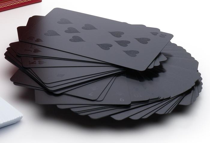 Black on Black Deck of Cards