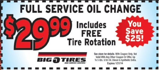 Big O Tire - Regular oil change