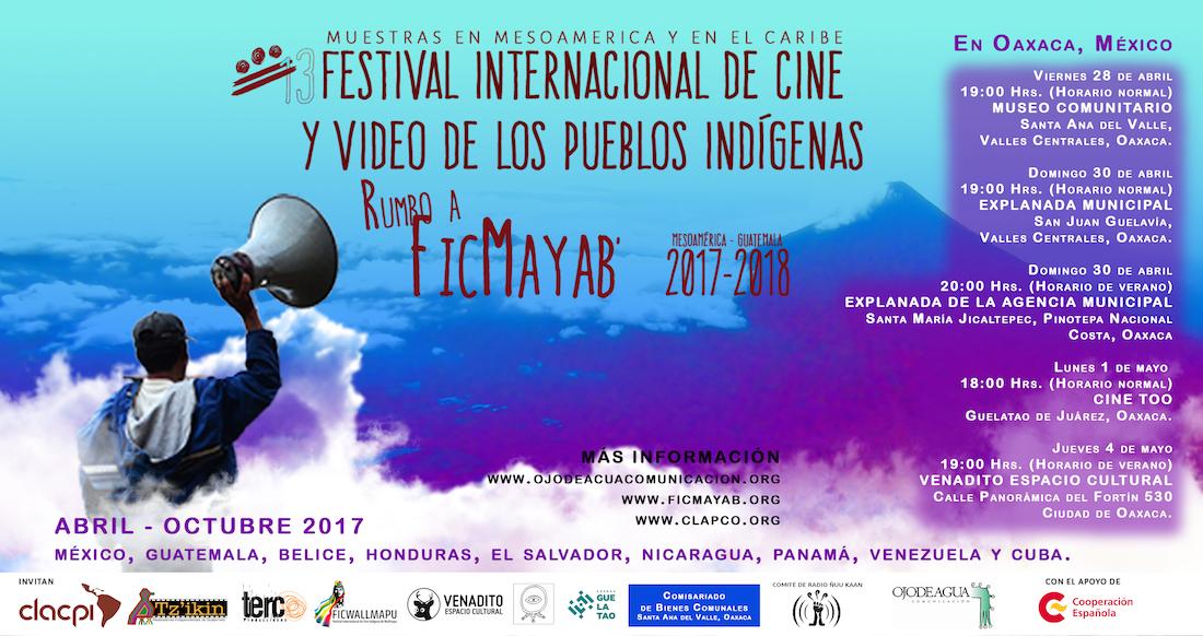 Ficmayab cartel Muestras Oaxaca 5 SEDES