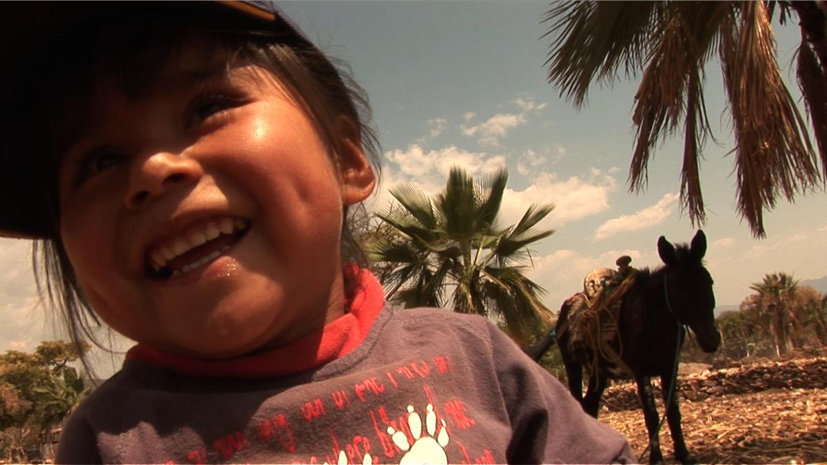 Llano niña y mula