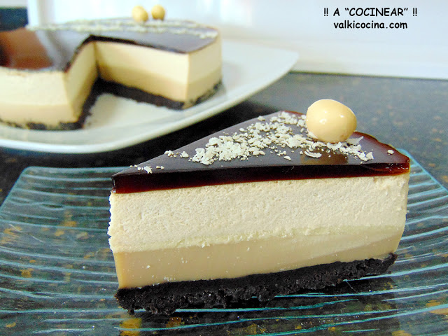 Tarta de chocolate blanco y café