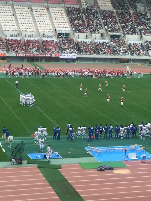 WESTERN JAPAN BOWL 2016 関学大VS立命大 観戦して 前半