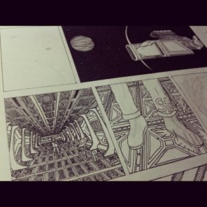 "WIP - Comics ""The Birth of Alien"""