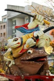 The entrance of the town of frogs, Nawata Street Matsumoto, Nagano