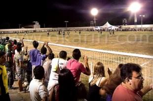 Visão do campo do Parque de Eventos durante o jogo de abertura do certame em 2014 | Foto: Acervo OKariri