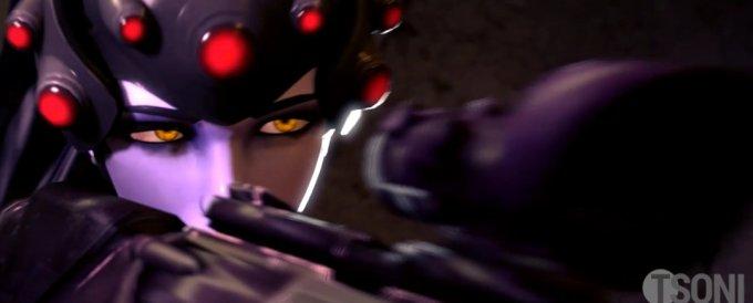 [Overwatch] 罠にかかったトレーサーをふたなりちんぽで強制イマラチオ [3DCG] (2)