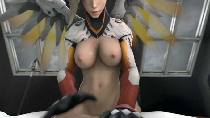 [3DCGアニメ] マーシー(アンジェラ・ジーグラー)が騎乗位で激しく腰を振り、たっぷり中出し【オーバーウォッチ(Overwatch)】 (4)