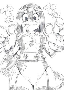[僕のヒーローアカデミア] 蛙吹梅雨ちゃん ケロケロ可愛いエロ画像 02 (3)