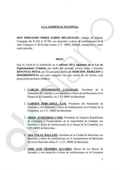 Un abogado, primer particular que denuncia a Carles Puigdemont