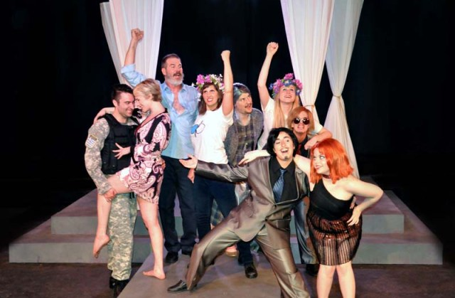 From left Heath Jones Jr, Mariah Webb, Robert Shaun Kilburn, Erin Woods, Timothy Berg, Lydia McBee Reed, Jessa Schinske, Denise Hughes, Tori Goss. (Reduxion Theatre Company)
